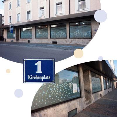 Der Standort der Praxis am Kirchenplatz 1 in Bad Hall